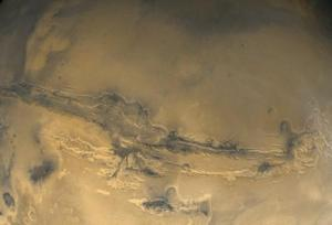 Valles Marineris as seen when priori-Mars orbited Earth