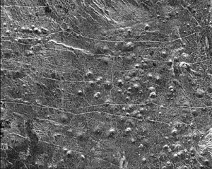One of many small-dome fields in the lowlands of Venus