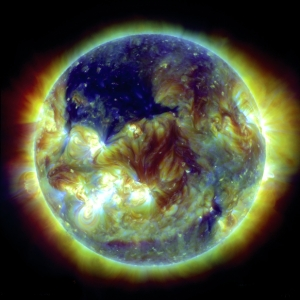 Non-thermal distribution of solar corona temperature