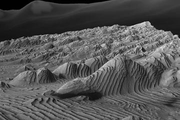 Fig. 1 Identical rock layers on the surface of Mars