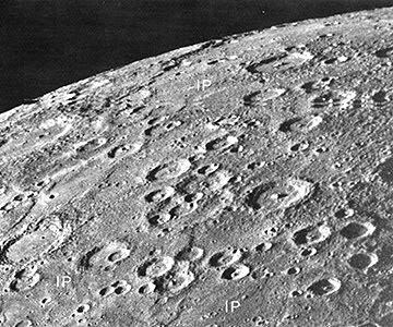 Fig. 1 Heavily cratered Mercury (NASA)
