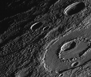 Fig. 2 A ringed basin on Mercury