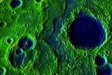Fig. 5 Surface scarps due to Mercury's recent shrinkage.