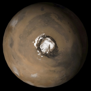 The firmament at the north pole of Mars surrounded by evidence of the Oceanus Bolealis