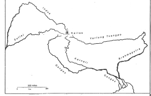 Figure 2. Five Himalayan river originate from Mt. Kailas