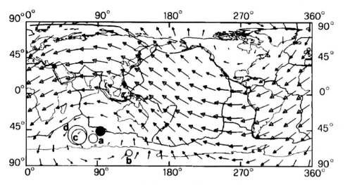 Fig. 1 Lithospere motion relative to mantle. (Differential Rotation ... Ricardi et al JGR May 1991)